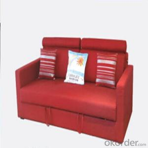 Sofa Sleeper with Purple or Red Fabric Cover