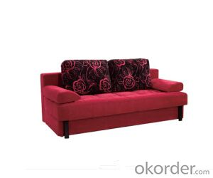 Sofa Sleeper with  Flannelette Cover Red Black
