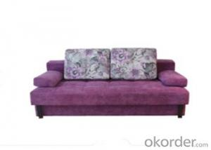 Sofa Sleeper with Brown or Purple Fabric Cover