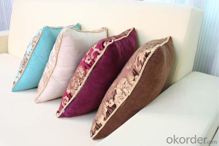Square Pillow Cushion Case with Velvet and Good Quality