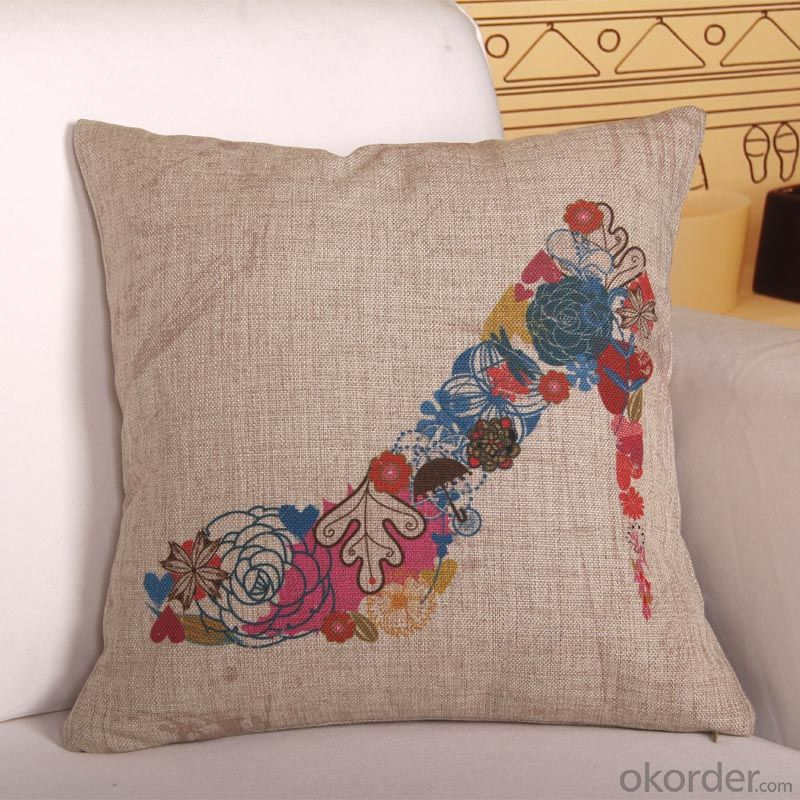 Square Pillow Brown Color with Digital Printing and Cheap Price