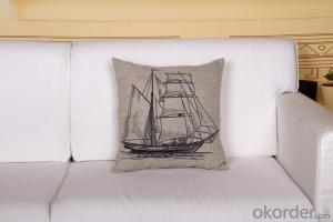 Cheap Square Pillow with Digital Printing 2015 Sailing Design