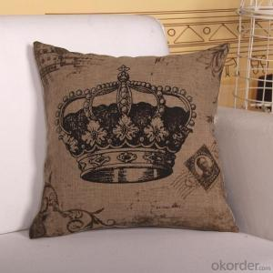 Square Pillow  Cushion 2015 New Crown Cover Design