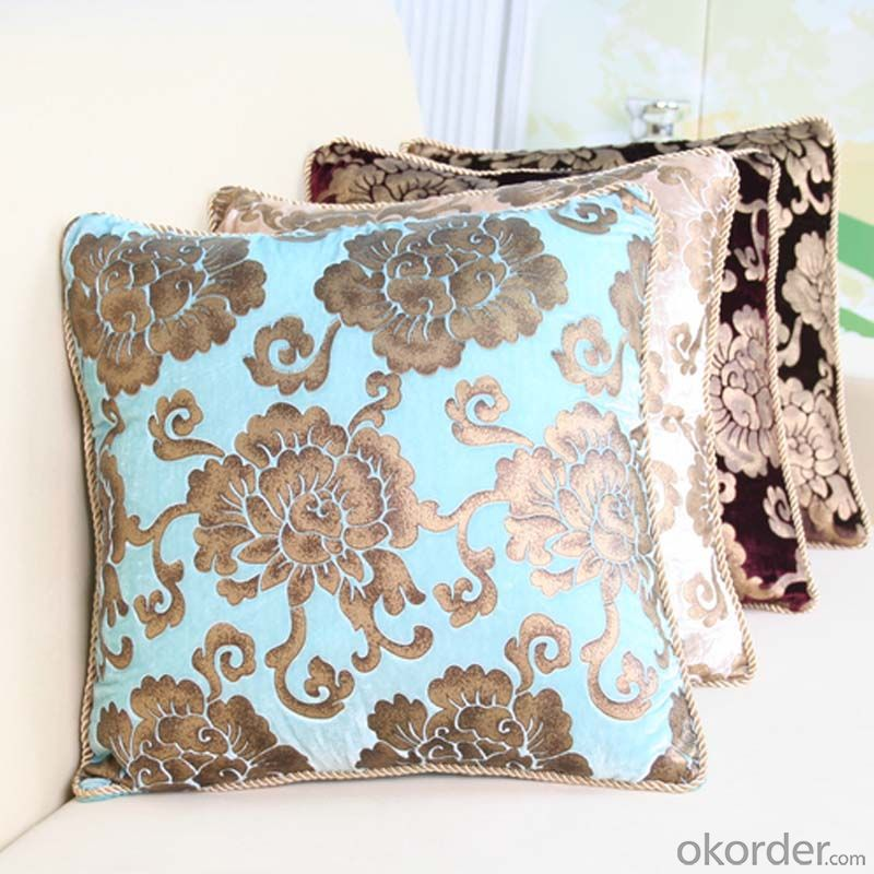 Soft Square Pillow Cushion Case with Velvet from China Factory