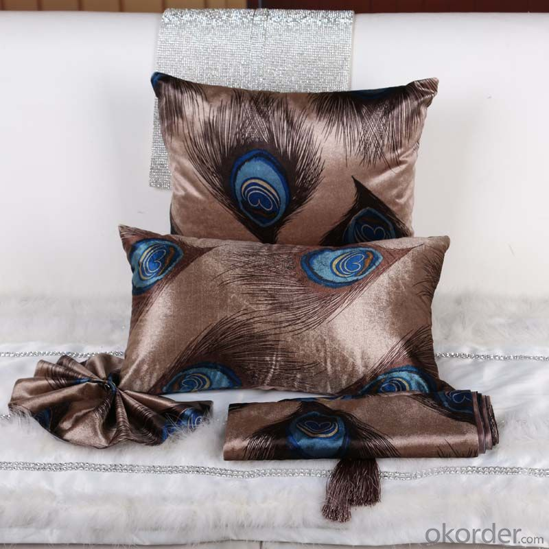 Luxury Square Pillow with Velvet and Grade A Quality  from China Factory