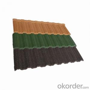 Stone Chips Coated Metal roofing tile-Rainbow  tile