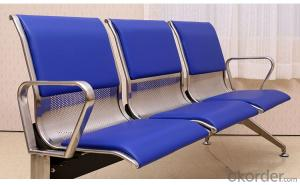 Airport Wating Chair with PU Cushion Fully Covered Three Seats Airport Wating Chair