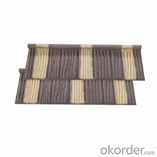 Stone Chips Coated Metal Roofing Tile-Wooden Tile