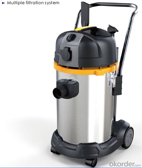 Cyclonic Industrail Vacuum Cleaner Wet and Dry with HEPA Multi Cyclone -CNWD6239