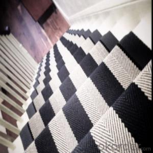 100% Polyester  Stair Machine Carpet / Rug from China