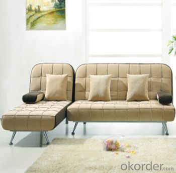 Sofa Sleeper with L Shape Leather Cover