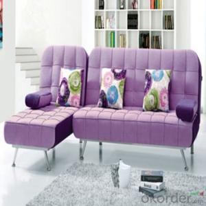 Sofa Sleeper with Purple and White Cover