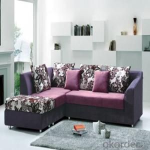 Sofa Sleeper with Blue or Purple Fabric Cover