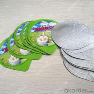 Lid of Yogurt Package Dairy Package Alu Foil