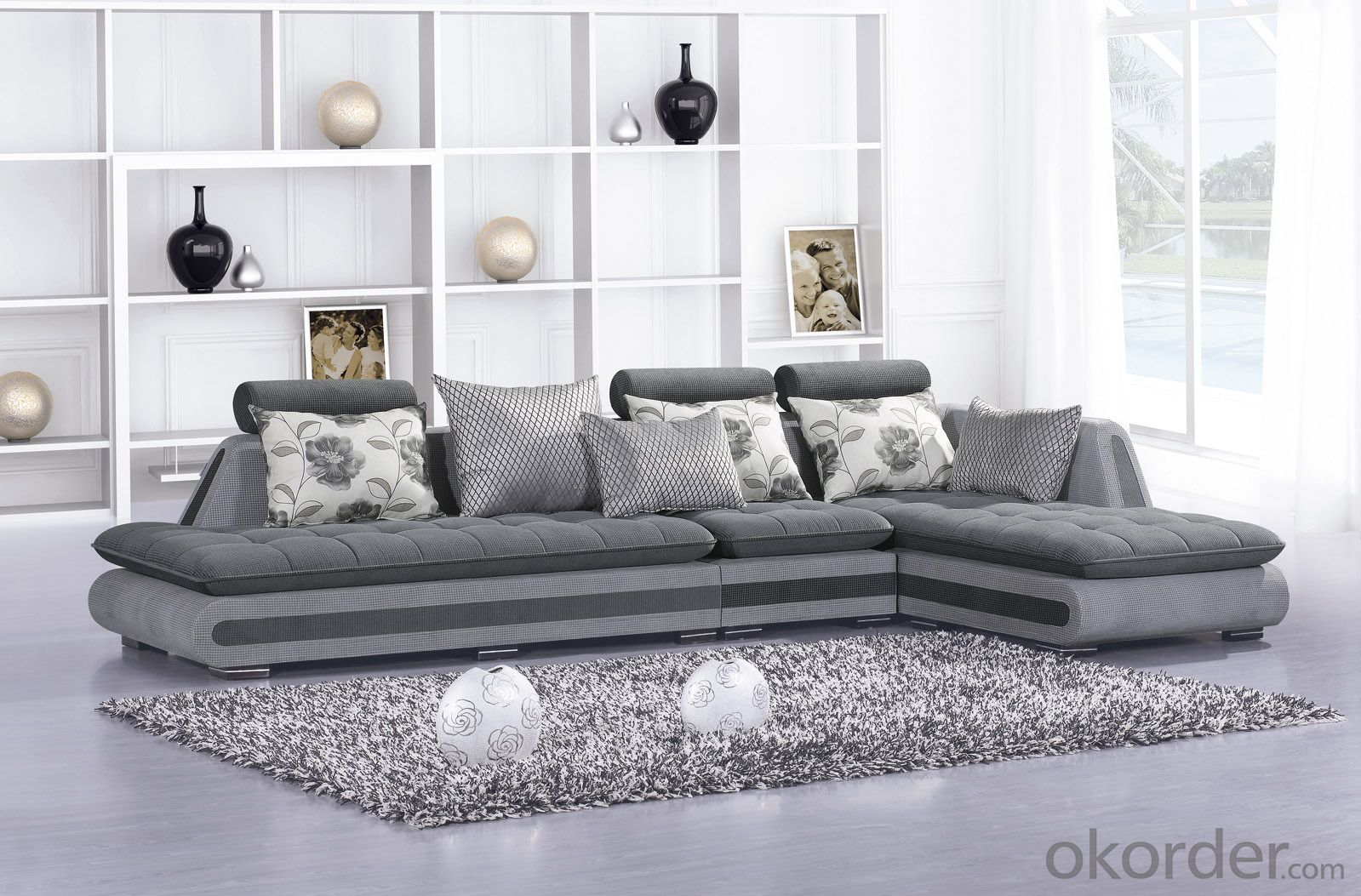Modern Design Living Room Luxury Rattan Sofa Set