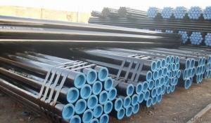 Seamless steel tubes for high pressure fluids