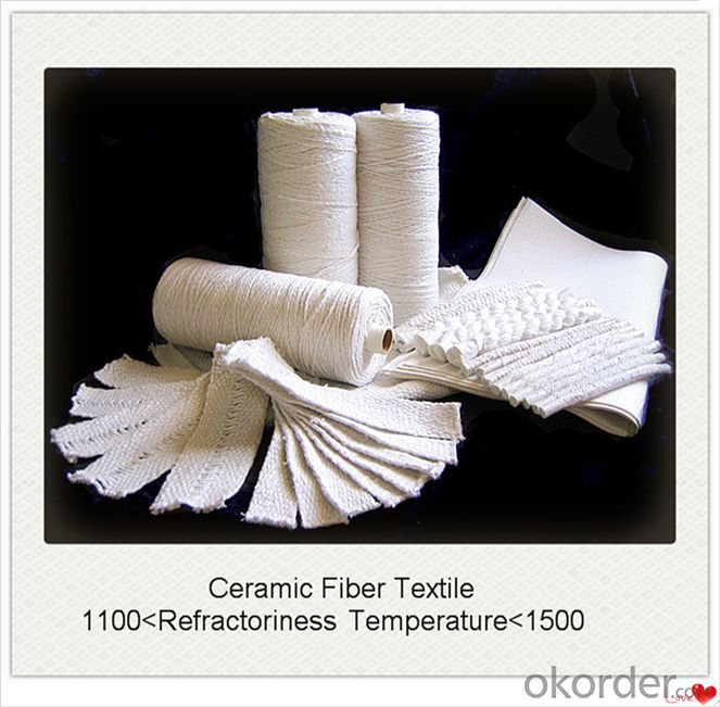 Ceramic Fiber Textiles Such as Cloth Tape Rope and Yarn