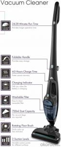 Cyclonic Vacuum Cleaner Cordless rechargeable 2 in 1 Upright Wet and Dry