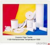 Textiles, tejido, cuerda, hilo de fibra cerámica para cortina de horno de aislamiento térmico.