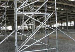 Frame Connected Scaffolding  with Simple and Flexible Structure