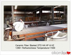 Ceramic Fiber Blanket STD Ordinary Fireproof Insulation Blown Process