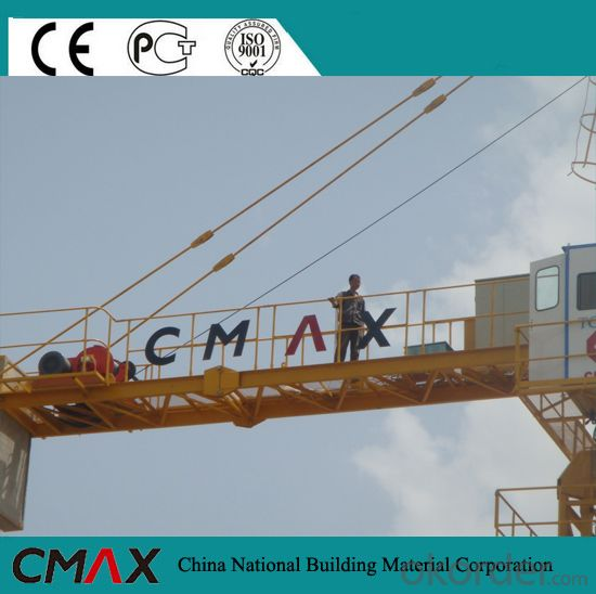 TC6016 10T Flat Top Tower Crane Manufactures with CE ISO Certificate