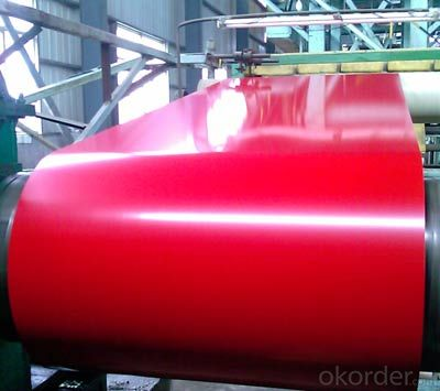 PPGI Color Coated Galvanized Steel Coil Prime Quality Red