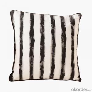 Fancy Pillow Cushion with Stripe Design Chevron Waterproof  for Decoration