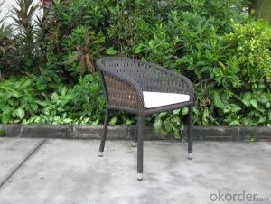 Outdoor Wicker Garden Chair with Strong Structure Aluminum Tube