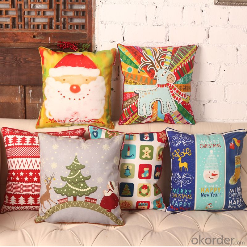Cheap Pillow Cushion Case with Fashion Design for Christmas Decorative