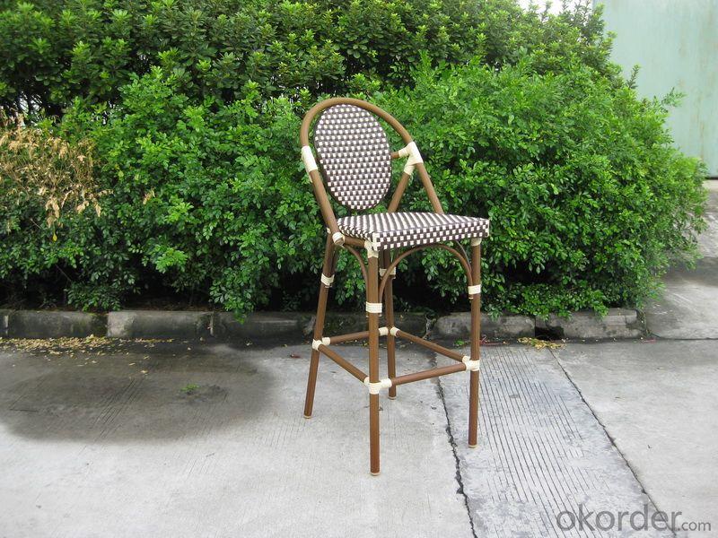 Outdoor PE Rattan Stackable Garden Chair with Aluminum Tube