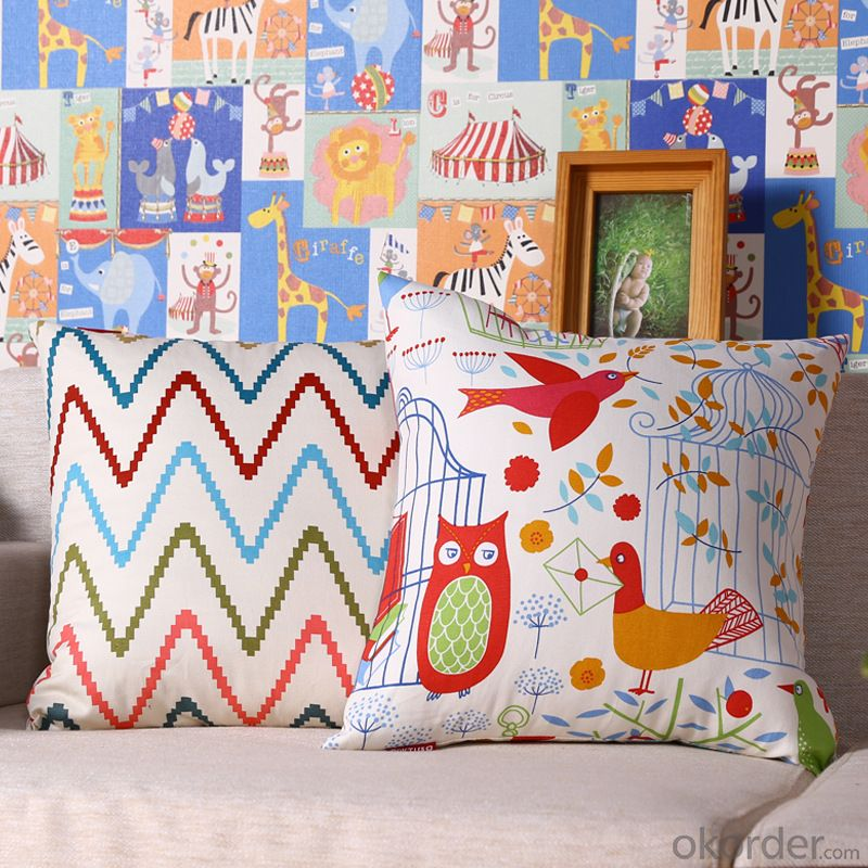 Hot Sale Pillow Cushion with Digital Printed for Sofa