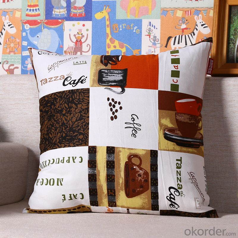 Handmade Pillow Cushion Case with Digital Printing and Cheap Price for Decoration