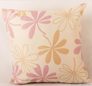 Fashion Pillow Cushion Cover with Digital Printing and Flower Design