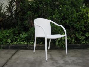 Outdoor Wicker Garden Chair with Aluminum Tube