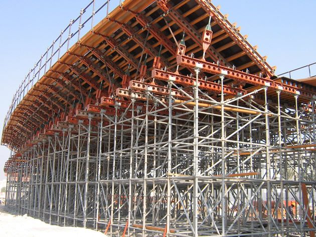 Cup Lock  Scaffolding  System with Painting in Construction