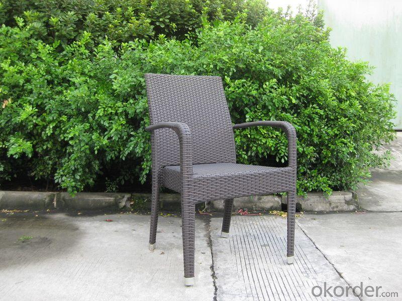 Anti-UV PE Rattan Garden Chair with Aluminum Tube, environment-friendly
