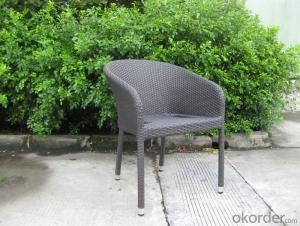 Outdoor PE Rattan Dining Set Chair with Aluminum Tube