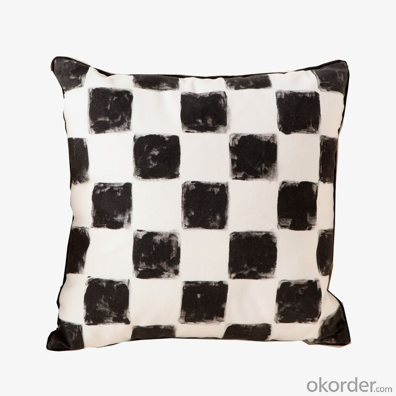 Fashion Pillow Cushion with Grid Design for Decoration