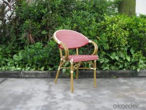 Outdoor UV Resistant Rattan Garden Chair with Aluminum Tube