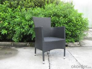 Outdoor Garden Chair  Made by High Temperature Resistant  Wicker and Aluminum Frame