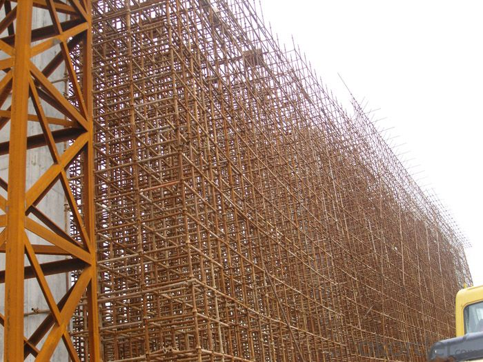 Cup Lock  Scaffolding  with Painting in Construction