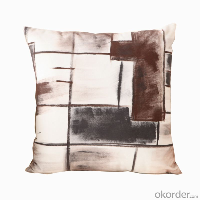 Comfortable Pillow Cushion with Black and White Design for Decoration