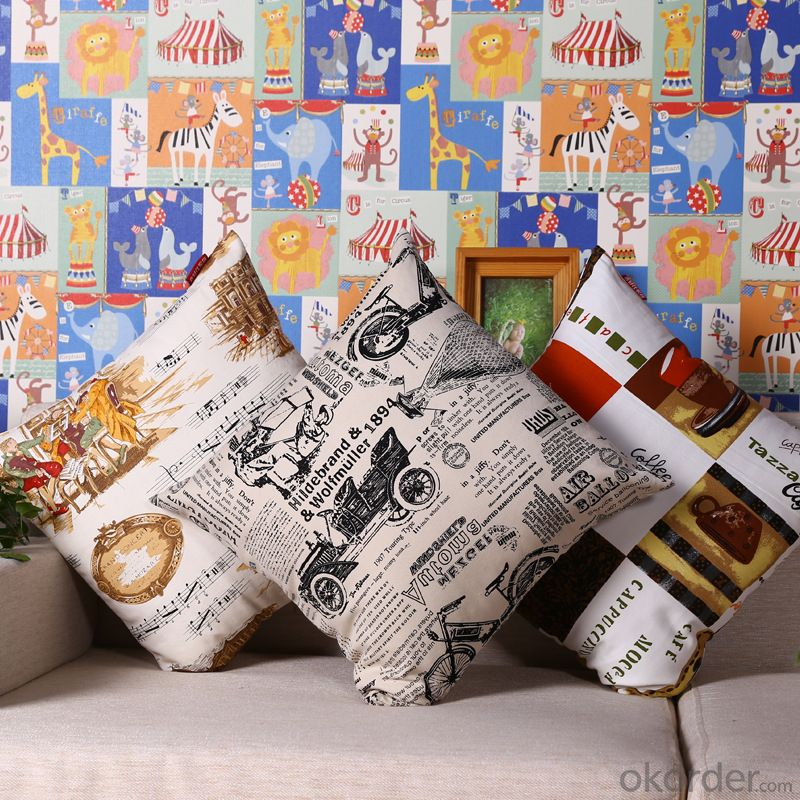 Handmade Pillow Cushion Case with Digital Printing for Decoration
