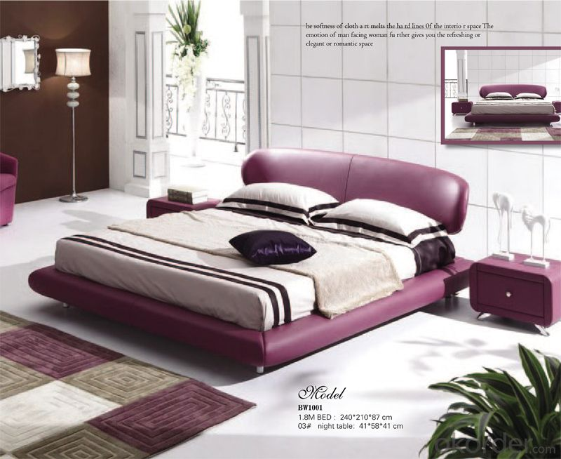 Leather Material Soft Bed of Modern Design