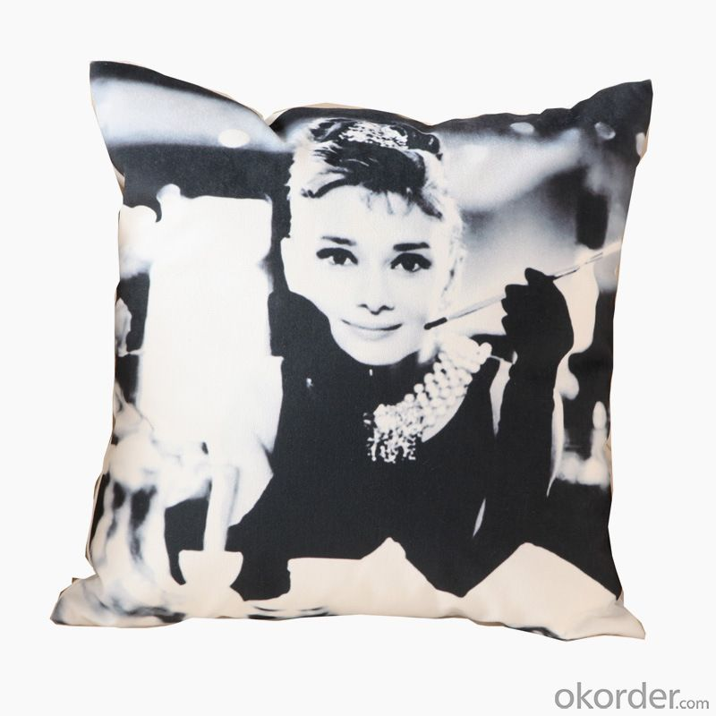 Fashion Pillow Cushion with Black and White Design for Decoration