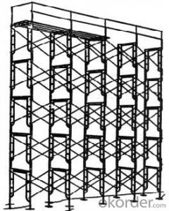Painted Frame Scaffolding System for Construction