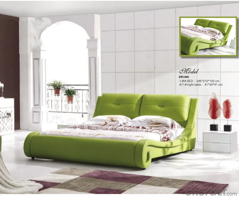 Bedroom Furniture Soft Bed with Beautiful Color