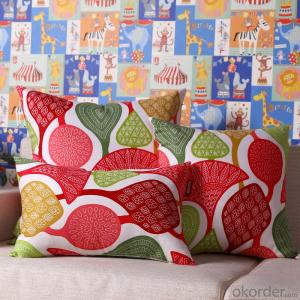 Good Pillow Cushion Cover with Digital Printing and Square Shape for Decoration