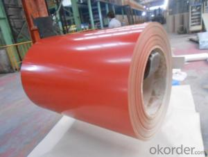PPGI Color Coated Galvanized Steel Coil  Red Color Prime Quality